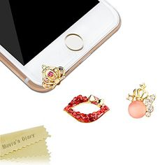 News Mavis's Diary® 3 Pcs Cute Bling Dust Plugs Accessories/ Cell Charms/ Ear Jack for Iphone 6 Series,Samsung Galaxy S6 Series,Note 5,HTC M9,LG G4 and Other 3.5mm Earphone Jack Downward (Combination 3) buy now $8.99 Specification: - Color: Shown as picture . - Brand: Mavis's Diary Package Included: - 1 * Case Cover - 1 * Soft C......