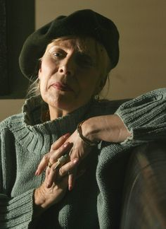 Joni Mitchell photographed by Leah Hennel
