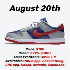 "Gefällt 957 Mal, 9 Kommentare - Resell-ology (@resellology) auf Instagram: ""Nike Dunk Low ""Samba"" set to release August 20th, 2020 for $100. Sizes 7-9 will be most profitable…"" Samba, Shoe Releases, Dunk Low, Nike Dunks, Sneakers Nike, Instagram, Clothes, Shoes, Fashion"