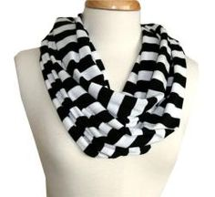 Black and white scarf to upgrade my simple black outfits!