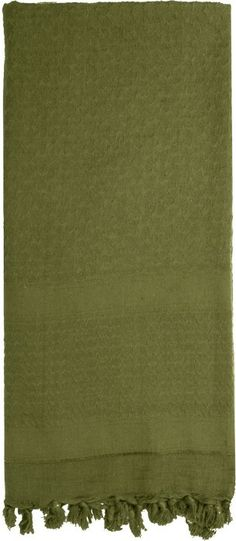 Olive Drab Solid Shemagh Heavyweight Arab Tactical Desert Keffiyeh Scarf | 8637 OD | $9.99