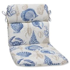 Pillow Perfect Outdoor Sealife Marine Rounded Corners Chair Cushion >>> Find out more about the great product at the image link. (This is an affiliate link) #PatioFurniture