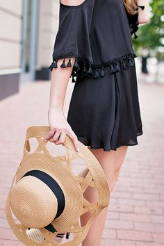 Black Tassle Dress   summer fashion   summer style   how to style a tassle dress   fashion for summer   style ideas for summer   warm weather fashion   fashion tips for summer    a lonestar state of southern