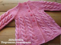 Baby Cardigan Knitting Pattern Free, Knitting Baby Girl, Kids Knitting Patterns, Baby Sweater Patterns, Crochet Baby Clothes, Knitting For Kids, Crochet For Kids, Baby Set, Baby Girl Dresses