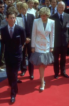 15th of May 1987- Prince Charles and Princess Diana in Cannes, France for the film Festival