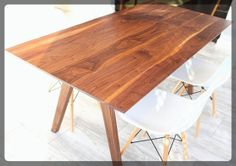 """Mid Century Inspired Sputnik Solid Walnut Dining Table, Large Size, 1"""" Thick Tabletop: Etsy"""