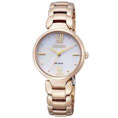 Reloj Citizen Para Mujer Em0423 56a Eco drive Oro Rosa