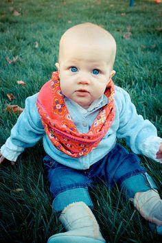 baby DIY infinity scarf