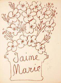 Henri Matisse - J'aime Marie