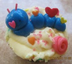 my first caterpillar fondant topper