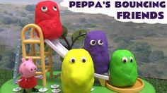 Peppa Pig Play Doh Thomas and Friends Muddy Puddles Bouncing Friends Jug...