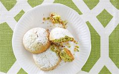 Tea and biscuits: crumbly, nutty treats made with matcha tea powder
