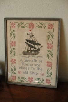 vintage pirate ship cross stitch: I need to make this!