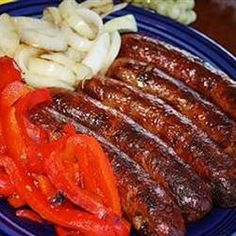 Festival-Style Grilled Italian Sausage Sandwiches - Grill the peppers & onions