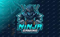 Gamer Ninja Mascot Logo Gamer Ninja eSports Logo Gaming Logo - Lobotz - Here we have a strong, eye-catching, awesome and powerful gamer ninja esports logo for sale that wi - Samurai, Banners, Logo Dragon, Ninja Logo, Video Game Logos, Mobile Logo, Game Logo Design, Design Logos, Esports Logo