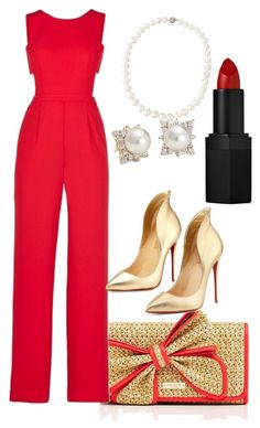"""""""Empire:Anika"""" by lacybecnel ❤ liked on Polyvore featuring Kate Spade, BCBGMAXAZRIA, Belpearl, Christian Louboutin, Blue Nile and NARS Cosmetics"""