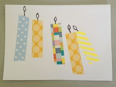 Washi Tape Birthday Card - a quick DIY that adults or children can do to make cute handmade cards, great for grandparents! Crafts on Sea