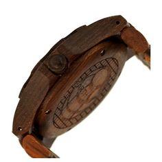 Earth Wood Men's Gila Eco - Friendly Sustainable Wood Bracelet Watch - Red, Red Oak