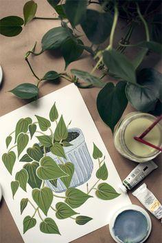 house plant portrait by Amanda Wright