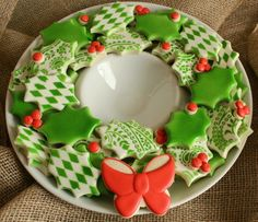 gallery of asia inspired cookies | didn't invent holiday cookie wreaths, but by following these ...