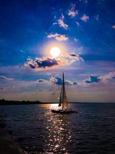 Hungary Balaton sunset vibrant by Edithphoto #boatonlakesailing