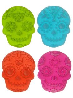 Make Day of the Dead Cookies with these!  |  Spooky Sugar Skull Cookie Stamps #luvocracy #design