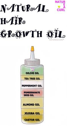 DIY Natural Hair Growth Oil >>> the thing is I have most of these things in my house #HairCareOil Natural Hair Tips, Natural Hair Growth, Natural Hair Journey, Natural Oils, Natural Hair Styles, Natural Beauty, Natural Shampoo, What Is Dandruff, Wild Growth Hair Oil