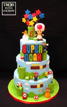 "Super Mario Bros!! - Made by ""Aux TROIS petits cochons par Veronique Arsenault"" (See more on Facebook!!)"