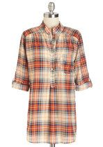 Where It's Mat Top in Forest Plaid | Mod Retro Vintage Short Sleeve Shirts | ModCloth.com