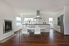 wood floor white walls - Google Search