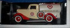 SOLIDO PRESTIGE TEXACO 1936 Ford Citerne Truck Tanker with decals white/red  E1 #SolidoPrestige