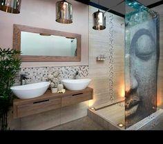 Impression zen avec des vasques et pierres