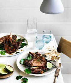 Momofuku Seiobo's Jerk pork chop with lime, Sydney :: Gourmet Traveller