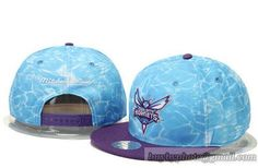 NBA New Orleans Pelicans Snapback Hats Adjustable Mitchell And Ness Caps Blue Liquid Water 30