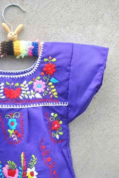 Mexican embroidery .. the-donna-mexican-infant-toddler the-donna-mexican-infant-toddler #purple