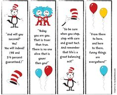 image relating to Dr Seuss Printable Bookmarks identify Dr. Seuss Bookmarks with estimates, totally free printable towards