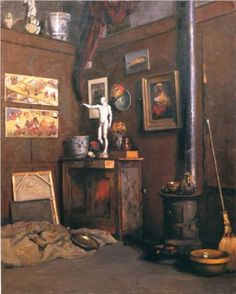 Interior of a Studio - Gustave Caillebotte