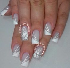 french nails tips Almond Classy Nail Designs, French Nail Designs, White Nail Designs, Colorful Nail Designs, Nail Art Designs, Nails Design, French Manicure Nails, French Tip Nails, Pretty Nail Colors