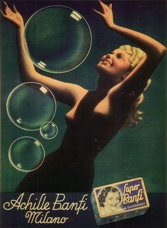 Vintage Italian Posters ~ #Vintage #Italian #posters ~ By Gino Boccasile (1901-1952), Achille Banfi, Milano. (I)