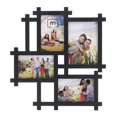 Lattice Collage Photo Picture Frame Black Art Gallery Home Decor Gift for sale online Frame Wall Collage, Collage Picture Frames, Frames On Wall, Collage Photo, Diy Photo Frame Cardboard, Photo Frame Crafts, Black Art, Plastic Picture Frames, Photo Frame Design