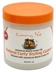 Sunny Isle Jamaican Black Castor Oil, Curly Styling Custard ** For more information, visit