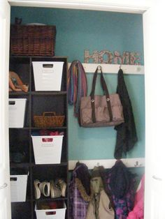 All time favorite for house....The Complete Guide to Imperfect Homemaking: My New {Kid-Friendly} Organized Coat Closet