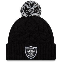 c73d790eb30 Women s Oakland Raiders New Era Black Cozy Cable Cuffed Knit Hat