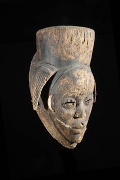 Masque Mukuyi - Punu / Tsangui - Gabon African Masks, African Art, Promotion, Art Tribal, Afro Art, Black Magic, Voodoo, Statues, Lion Sculpture