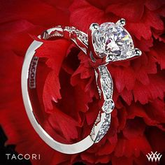 Tacori Sculpted Crescent Petite Diamond Engagement Ring