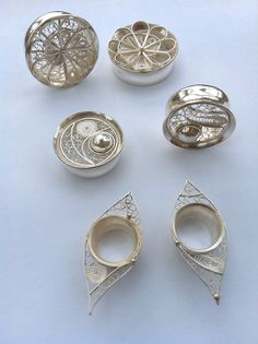 """Osmytza Filigree Plug Collection in 1.5"""", 1"""", and 3/4""""  I don't have gauges but I LOVE these!"""