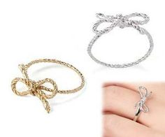 Show your undying love with bow knot rings available in all sizes and in both gold and sterling silver. This romantic gift is an thoughtful ring to give...