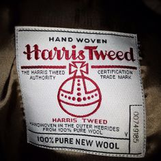 Harris Tweed..if I close my eyes, I can still recall the scent of my father's harris tweed jacket.  I loved the leather buttons and the elbow pads.  I wish I still had it as a memento.