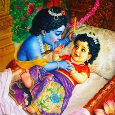 """All glories to our lovely Radha Rani! Swami Mukundananda and JKYog wish you a very happy…"" Krishna Lila, Baby Krishna, Jai Shree Krishna, Cute Krishna, Radhe Krishna, Radha Krishna Quotes, Radha Krishna Pictures, Lord Krishna Images, Radha Krishna Photo"
