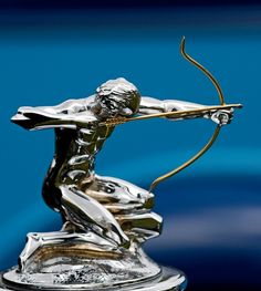This shot shows the hood ornament, or 'mascot', of a Pierce Arrow automobile-Photo by James Howe, Ann Arbor